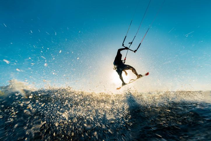Träna kiteboarding på land